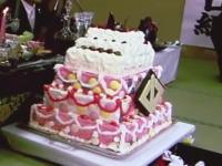 ヤクザのお誕生日会。山口組分裂前に行われた司忍組長のハピパ☆代紋付きケーキ。