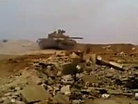 これは神回避?敵の対戦車誘導ミサイルをギリギリで避けたT-72(戦車)のビデオ。
