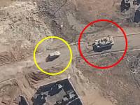 M1エイブラムスに特攻する自爆トラック。イスラム国による自爆トラックの戦い空撮集。