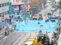 大穴が空いた博多駅前復旧工事の様子を2分に短縮した動画が人気に。