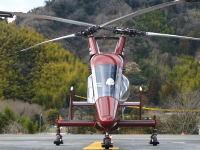 メインローターが交差しテールローターを必要としないヘリコプター「カマンK-MAX」