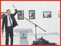 トルコで式典スピーチ中のロシア大使が射殺される。そのビデオが公開。