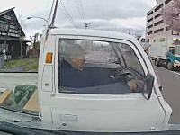 まさか出てくるとは(°_°)前しか見てない軽トラおじいちゃんと事故ドラレコ。