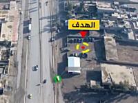 ISISの自爆トラックがターゲットに近づいて爆発する様子を高画質で空撮。
