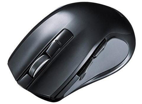 サンワサプライブルーLEDマウス(ワイヤレス・心拍センサー付・大型)MA-WHLS1