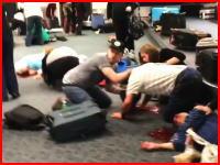 フロリダの空港で起きた拳銃乱射事件の現場映像。5人が死亡8人が負傷。