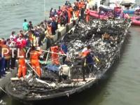 【衝撃映像】火災で乗客23人が亡くなったフェリー。インドネシア。