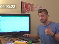 暇かwww約9時間もキーを押し続けてエクセルの底に到達した男の映像が人気に。