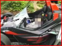 中国で撮影されたKTM・クロスボウの死亡事故。歩行者を死なせ運転手も即死。