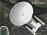 スタートレックシリーズに登場した宇宙船の大きさ比較。東京にNCC-1701-D