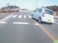 挙動不審な軽自動車(ピノ)に殺されかけたライダーの車載。危険運転IN福島