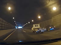 強制退場させられた(´・_・`)保土ヶ谷トンネルで酷いスイフトに追い出された動画。