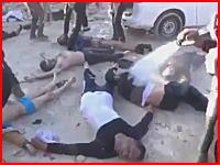 シリアで政府軍がサリンガスを使用か。悲惨な現場の映像が公開される。