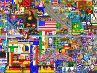 reddit民凄すぎるだろ。100万人が1ピクセルを奪い合って完成させたデジタルアート。
