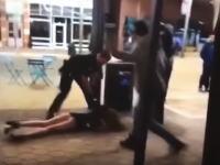 アメリカの警察容赦なさすぎ。モデルのような女子大生をビターンッ!と地面に叩きつける。
