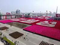 北朝鮮の軍事パレード(2017)フルビデオ。故金日成生誕105年記念日。