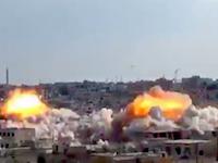ロシアの爆撃機がシリアに投下したパラシュート爆弾のビデオが話題に。