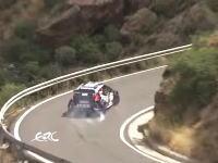 ヨーロッパラリーでひやっと事故。クラッシュしたマシンが崖から落ちかける。(ERC)