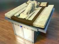 振動を検知すると寝ている人を自動的にシェルターに収納www40秒の笑うわwww