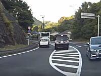 鹿児島でDQNヴェルファイアに襲われて殴られるかわいそうな商用車が撮影される。
