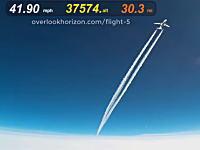 これはレア動画。気象観測用気球が上空38000フィートでエアバスA319と遭遇。