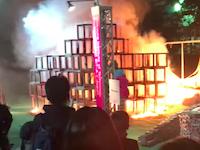 神宮外苑東京デザインウイーク焼死事件の紹介していなかった新しい角度の動画(4K画質)
