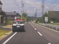 お巡りさんどうした(°_°)岐阜県でフラフラする怪しいパトカーが目撃される。
