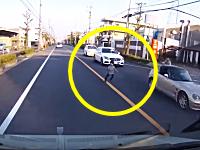 子供の飛び出しがめちゃくちゃ怖いドライブレコーダー。愛知県一宮市