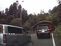 右腕だらんは威嚇のポーズ。これが真のDQN運転。岐阜で撮影されたDQN商用車。