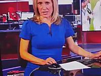スタッフがパソコンでエッチなビデオを見ているのがBBCニュースに映りこんでしまう。