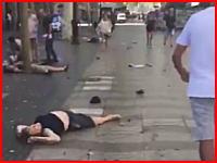 スペインバルセロナで起きた車突入テロの現場映像がヤバい。13人死亡50人以上負傷。