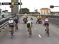 30秒のリードが・・・。自転車ロードレースで跳開橋にトップ集団が阻まれてしまう(´・_・`)