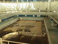 オリンピックからわずか一年で廃墟と化したスタジアム。2016年リオリンピック。