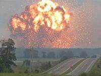 ウクライナで弾薬庫が爆発(動画)3万人が避難しその地域の空域を封鎖。