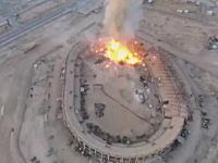 イスラム国がサッカースタジアムにドローン爆弾を落とす動画が公開される。