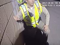 ラスベガス銃乱射事件。現場で対応した警官のボディカム映像が公開される。