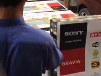 偽装。サムスンの液晶テレビをソニーのBRAVIAとして販売する方法(´・_・`)