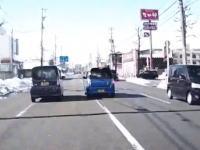 富山の初心者DQN。転回してまで追いかけてきてオラオラする軽自動車。