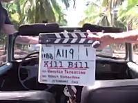 映画撮影中の事故。キル・ビル撮影中に起きたユマ・サーマンのクラッシュ映像が15年経って公開される。