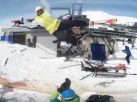 スキー場のリフトが故障して乗客が次々と吹っ飛ばされた事故の別角度の映像がすごい。