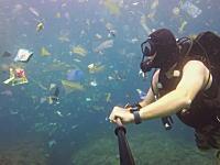 プラスチックとナイロン袋であふれるバリの海。ダイバーが目撃した異常な光景。
