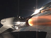 ヴァージン・ギャラクティック社が死亡事故で中止していた試験飛行を再開。VSSユニティ最初のロケット推進飛行を成功させる。