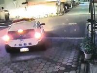 一通逆走でパトカーに衝突して逃げたワゴン車の動画(大阪)これ結局にげられた?