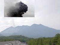 噴火前の桜島の写真に噴火後の映像を合成した映像がYouTubeで高評価。