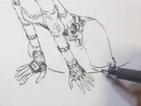 アタリも下書きも無しに密度の高いイラストを描いてしまう神のビデオ。