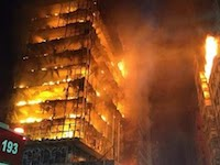 ブラジルで24階建ての高層ビルが火災で崩壊。その瞬間が撮影される。