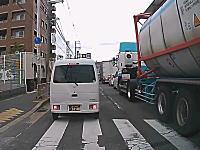 高槻大地震発生の瞬間を捉えていたドライブレコーダーの映像。