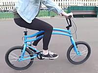 Helyx Bike。可動する後輪で前後操舵を可能にした斬新な自転車が開発される。
