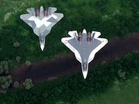 ロシアの最新ジェット戦闘機Su-57のプロモーションビデオのようなものが公開される。