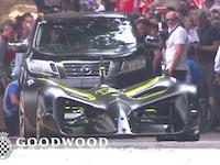 グッドウッドのヒルクライムにロボレースの完全自動運転レースカーが登場する。